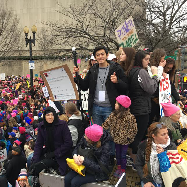 Stamps Scholar Uses New Technology to Document Inauguration and Women's March