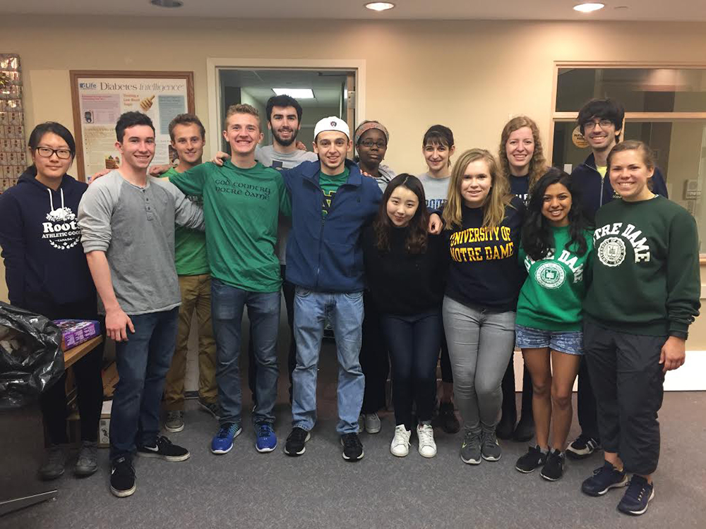 "<b>Univ. of Notre Dame:</b><br><br>   <div style='font-size:18px;'>""Being in a commUNITY means reaching outside of our campus to be active members for good in the wider South Bend area..""  <br><br>  During the Day of Service, Notre Dame Stamps Scholars partnered with the South Bend Center for the Homeless. Over the course of the day, Scholars helped the center with various miscellaneous tasks around the shelter, including organizing donations to the Center. They also participated in a discussion surrounding the causes and outcomes of homelessness and ended the day by talking to residents of the center over a meal, learning about their lives and what led them to their current situation. </div>"